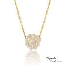 大東山珠寶 淡水珍珠墬飾短鍊 輕舞細韻 白珍珠