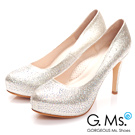 G.Ms.   花嫁系列-銀河星鑽厚底細跟鞋-閃耀金