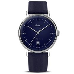 a.b.art G系列 復古日期大三針機械腕錶-藍色/40.5mm