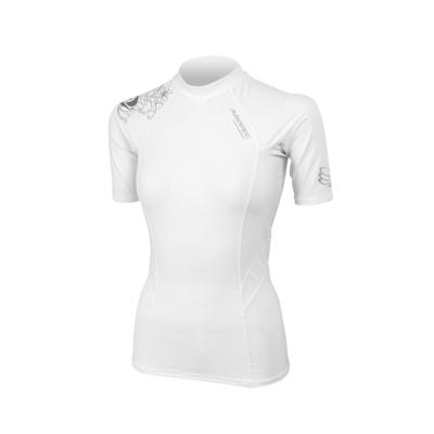 AROPEC Compression II 女款運動機能衣 短袖 白