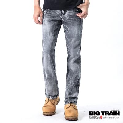 BIG TRAIN-街頭灰白小直筒褲-灰白