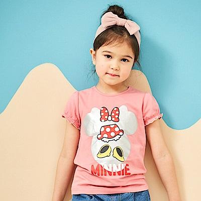 Disney 米妮系列俏麗閃點泡袖上衣 (共2色)