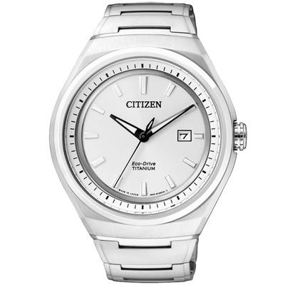 CITIZEN ECO-Drive 超級鈦都會時尚腕錶(AW1251-51A)-銀白/43mm