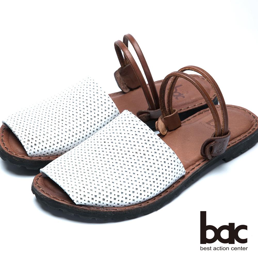 bac台灣製造 兩穿式平底涼鞋-白色
