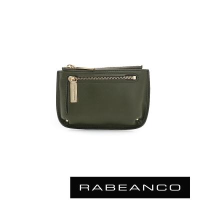 RABEANCO-迷時尚系列雙拉鍊零錢包-大-軍綠