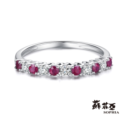 蘇菲亞SOPHIA - 克羅莉斯鑽石佐紅寶線戒