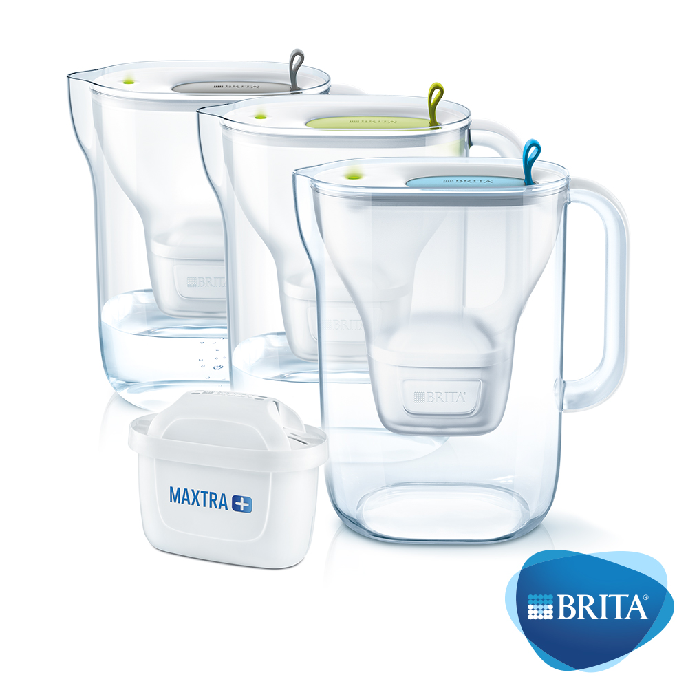 BRITA Style3.6L濾水壺+MAXTRA Plus濾芯x2(共3芯)
