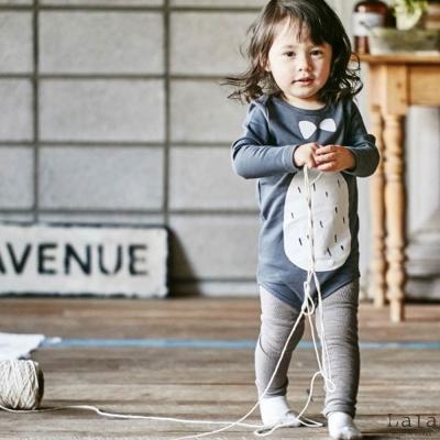 Lala韓國 灰色素色內搭褲