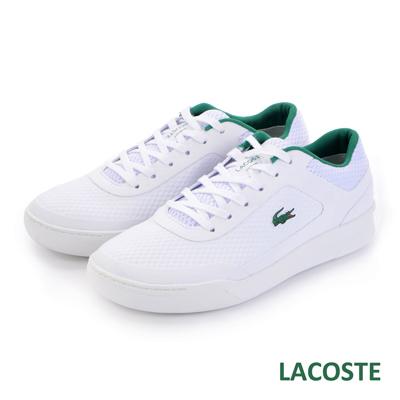 LACOSTE 男用運動休閒鞋-白/綠