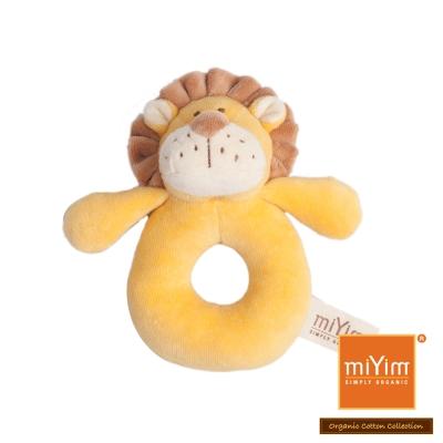 美國miYim有機棉安撫手搖鈴-里歐獅子