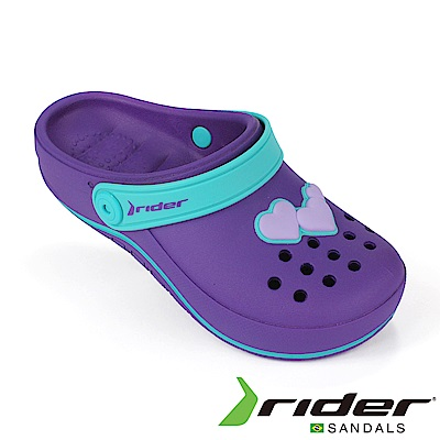 RIDER 巴西-童 運動洞孔鞋 紫色/土耳其藍
