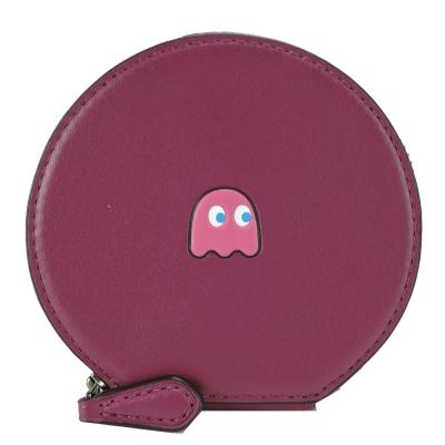 COACH-限量小精靈系列皮革拉鍊零錢包-紫