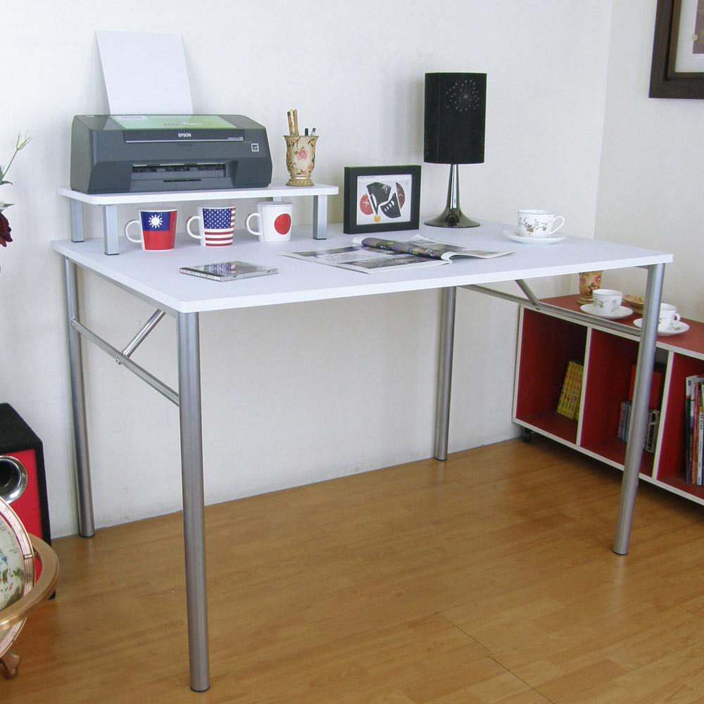 頂堅(桌面60x120cm)書桌(附60cm桌上架/二色)