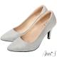 Ann-S睡美人-訂製晶鑽羊皮3D氣墊尖頭高跟鞋