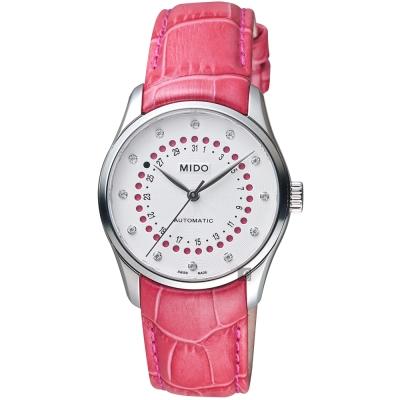MIDO美度 Belluna 系列日期真鑽女錶-白x粉紅/32mm