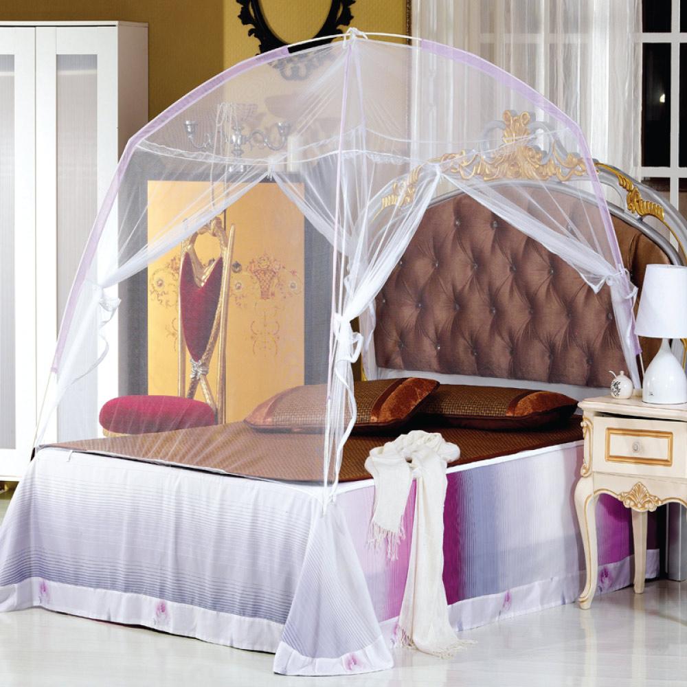 精靈工廠 蒙古包帳篷式雙開門雙人蚊帳