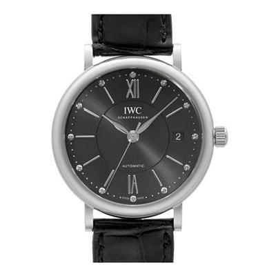 IWC 萬國錶 Portofino 柏濤菲諾黑面經典皮帶錶(IW458102)-37mm