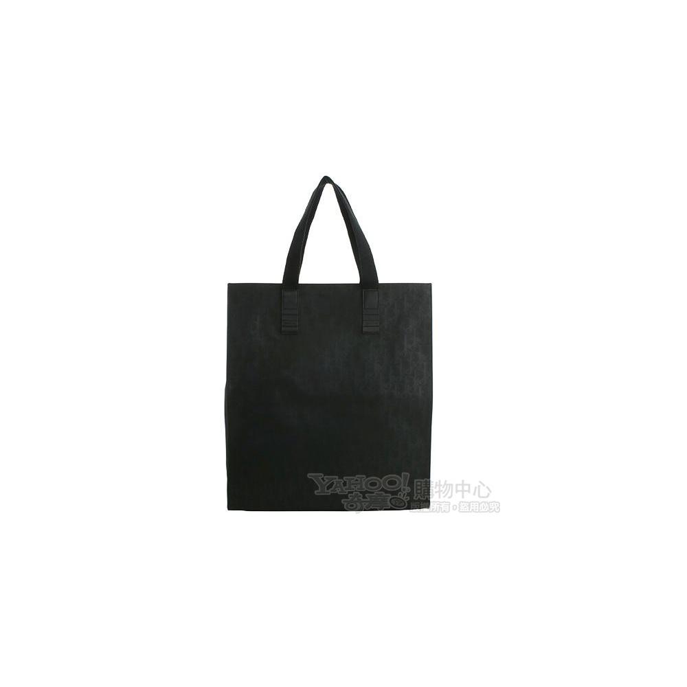 Dior Homme 經典字樣防水帆布直立式購物包(黑色)