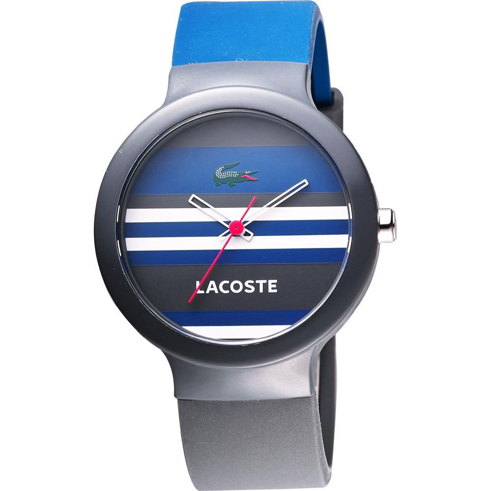 Lacoste 鱷魚 復古百搭時尚休閒腕錶-灰/藍/40mm