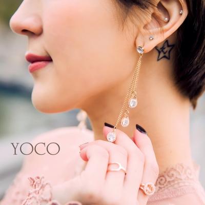 東京著衣-yoco 安琪聯名巴黎名媛垂墜水鑽耳環(共一色)