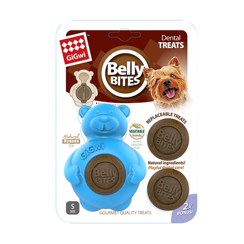 GiGwi胖肚肚磨牙樂-藍色小熊S號