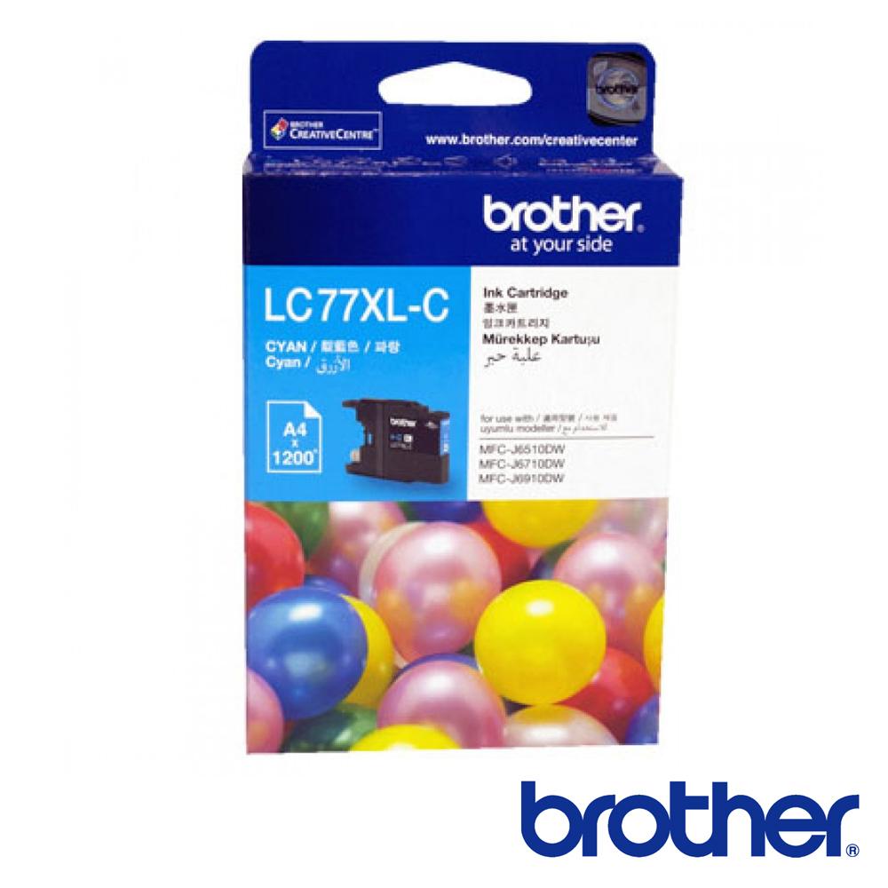 Brother LC77 XL-C 原廠超大容量藍色墨水匣 @ Y!購物