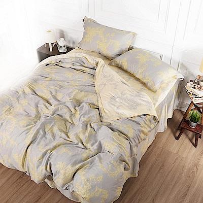 夢工場 星晴閃耀天絲頂規款四件套鋪棉床罩組-雙人