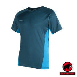 【瑞士 MAMMUT 長毛象】男 MTR 201 短袖排汗衣_獵戶藍