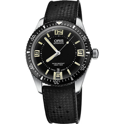 Oris Divers Sixty-Five 1965復刻潛水機械錶-黑/40mm