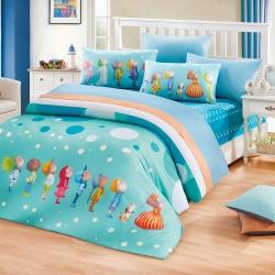 繪見幾米-真的假的啊 泡泡球 小狗枕套 單人兩用被床包組