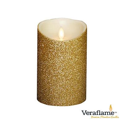 Veraflame 擬真火焰搖擺蠟燭-象牙白金蔥