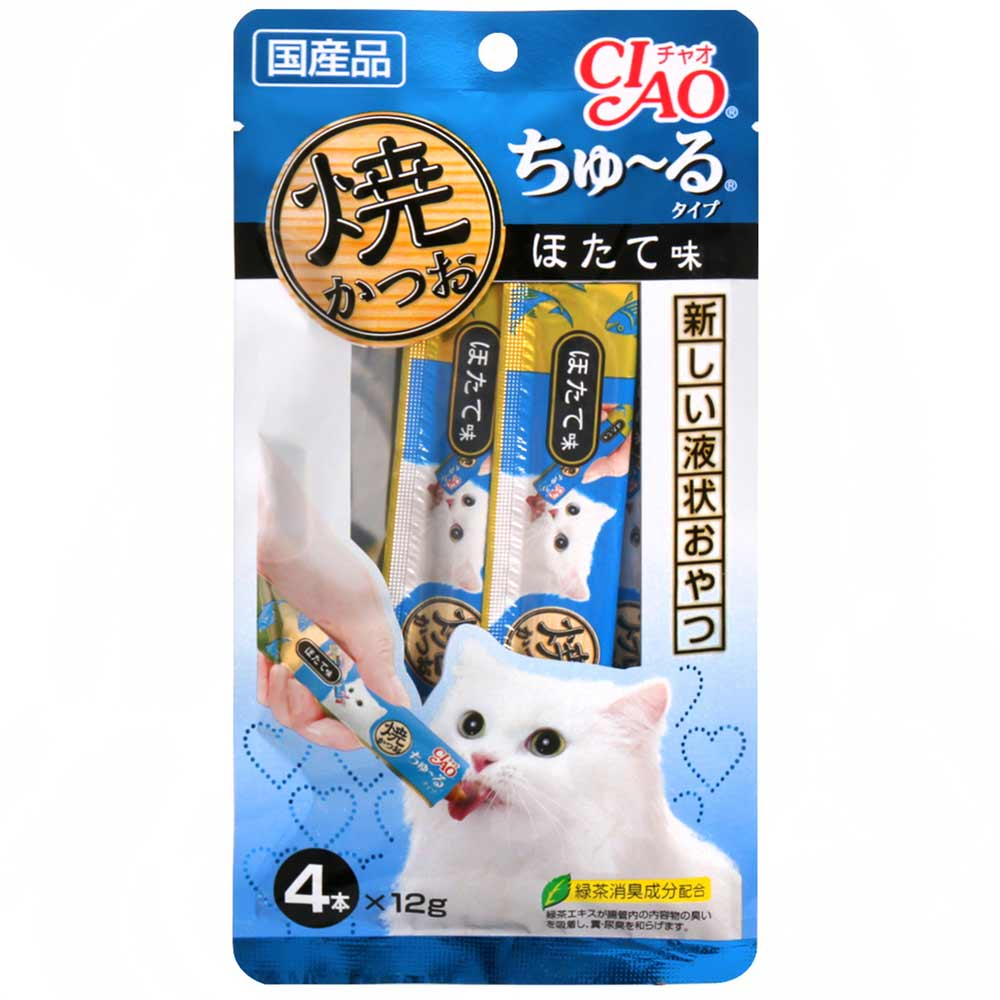 CIAO 啾嚕鰹魚燒肉泥-干貝風味(12gx4入)