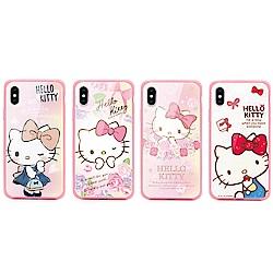 GARMMA  Hello Kitty iPhone 7/8+ 四角防撞玻璃殼