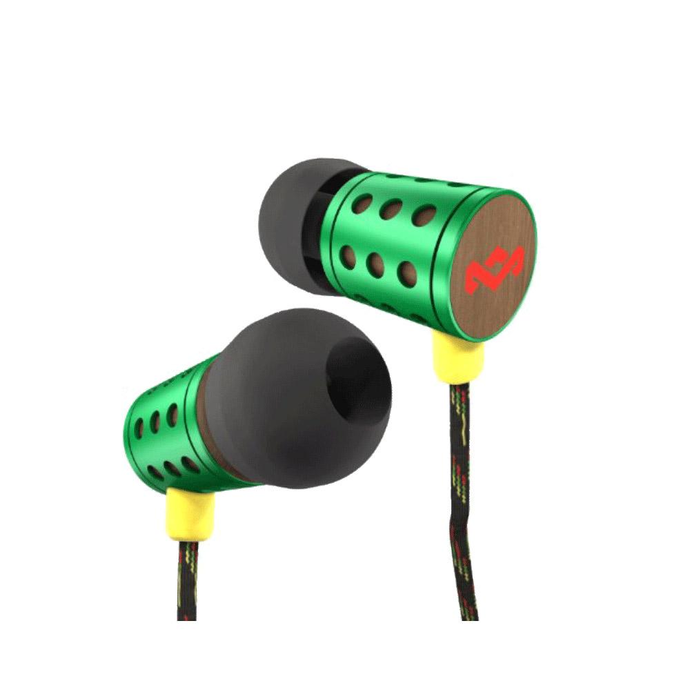 Marley Midnight Ravers Rasta 入耳式耳機麥克風含音量控制(綠色