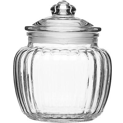 KitchenCraft 菊花紋復古密封玻璃罐(600ml)