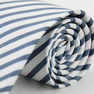 Alpaca 白灰相間斜紋領帶