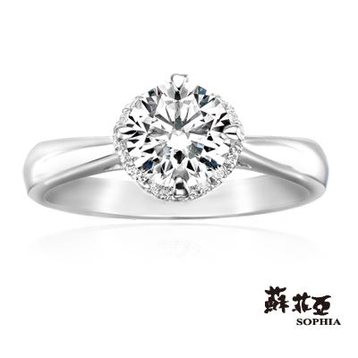 蘇菲亞SOPHIA 求婚戒-GIA薔薇DSI1 1克拉鑽戒