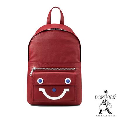 PORTER - 重拾童趣KEEP ON SMAILING輕巧休閒後背包 - 紅
