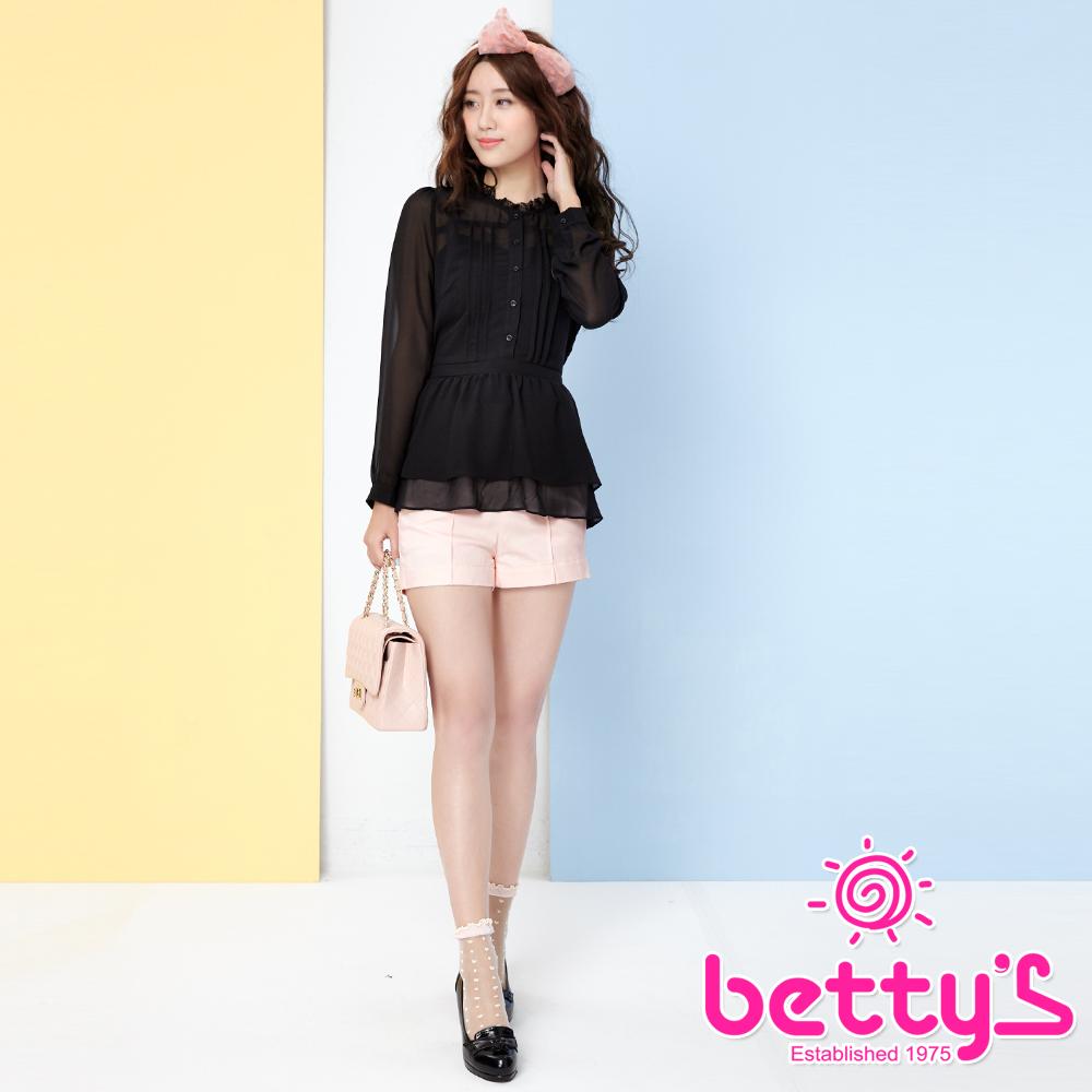 betty's貝蒂思 褲身釦飾側身拉鏈短褲(粉紅)