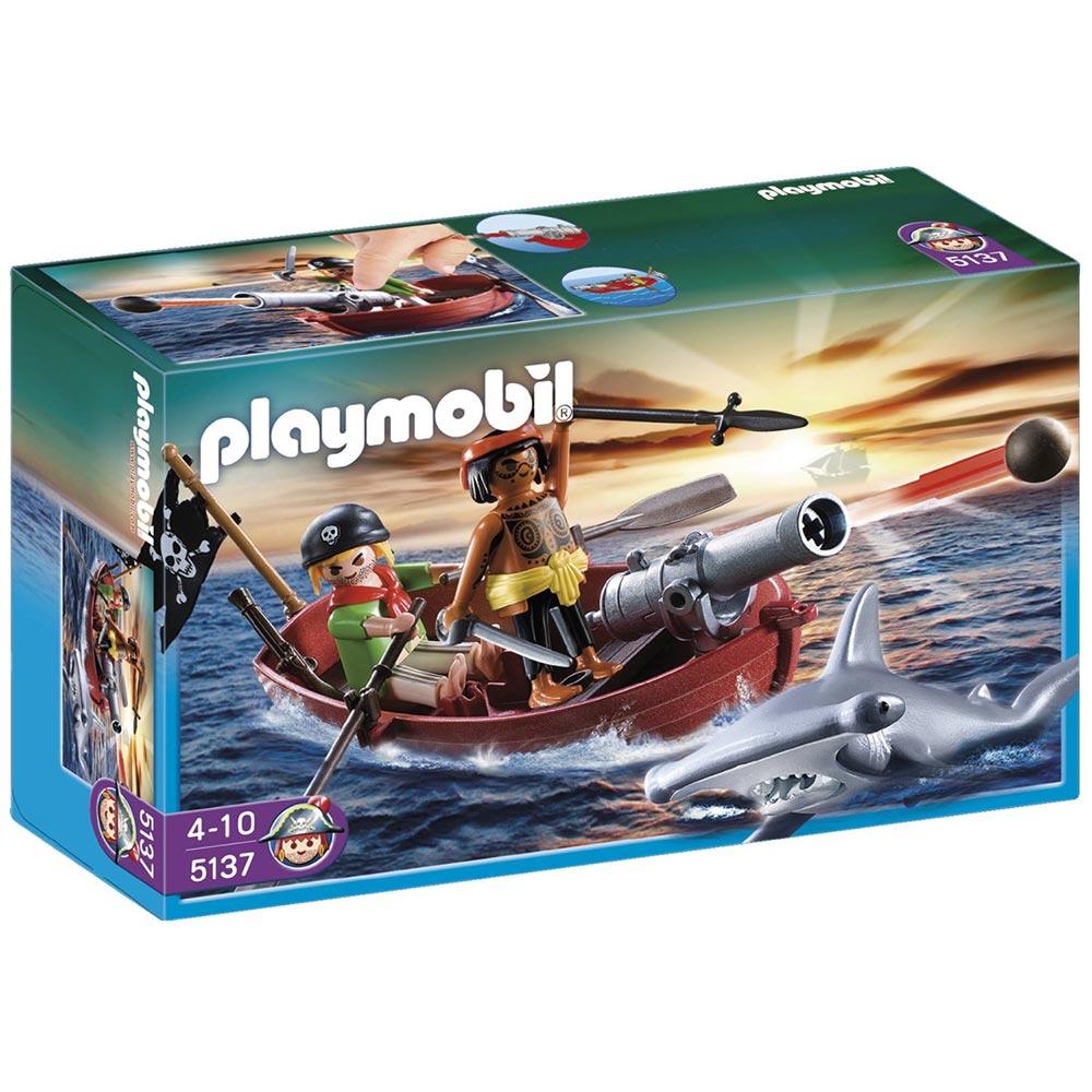playmobil 海盜系列 海盜划艇與鯊魚