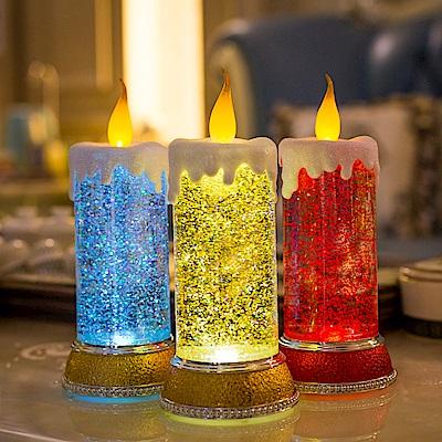 法國三寶貝 創意蠟燭造型LED燈 七彩紅金 三色挑選