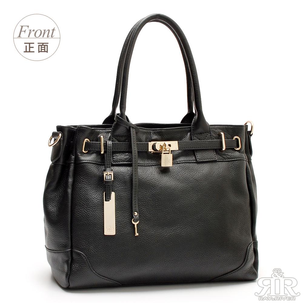 【2R】香榭真皮Leather鎖頭包(雋詠黑)
