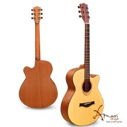 Amari 40吋雲杉木面板缺角民謠吉他-原木色+(408C)加贈超值五寶