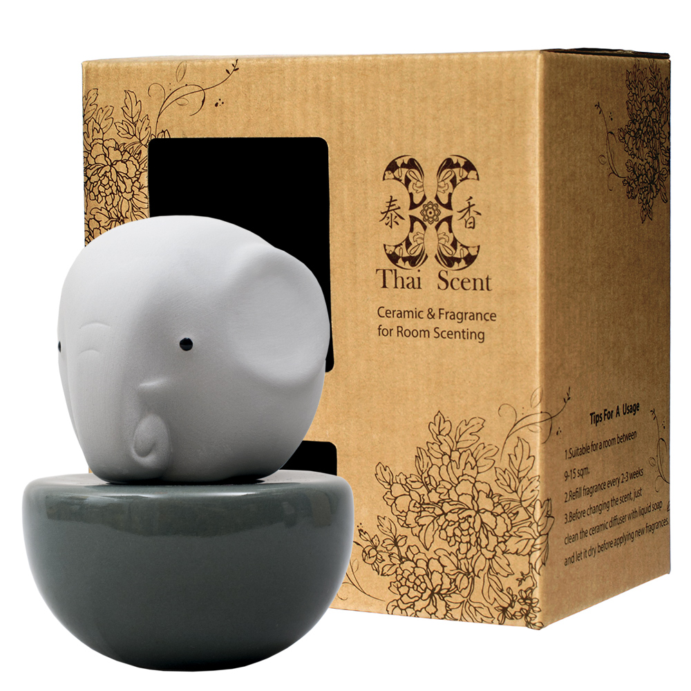 ThaiScent泰香 藍色大象擴香精禮盒(4款香氣任選)