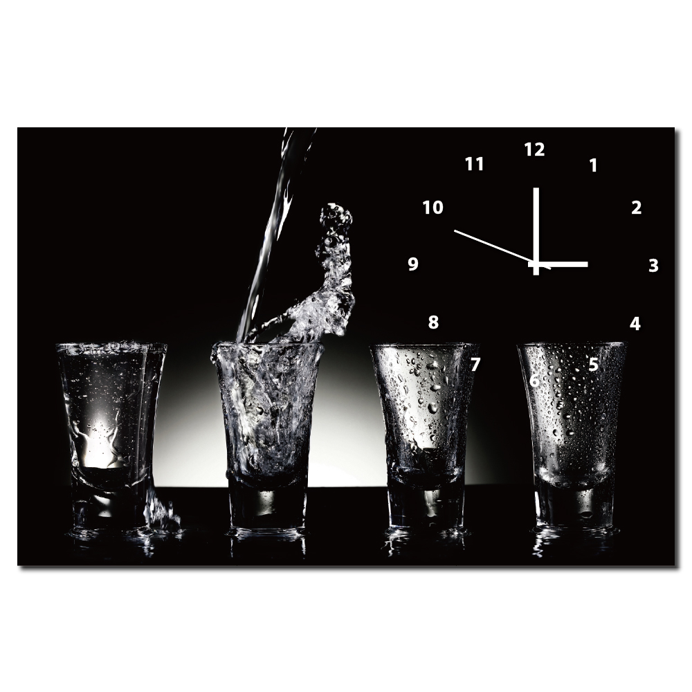 24mama掛畫-單聯橫幅酒吧酒杯飲料店餐廳飯店掛飾時鐘無框畫掛畫-杯-60x40cm