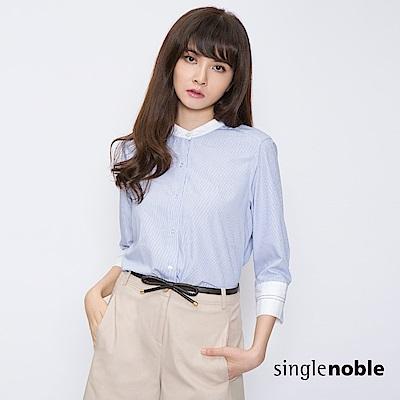 獨身貴族 知性女紳細條紋設計襯衫(1色)