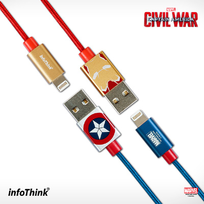 InfoThink 美國隊長3 iPhone/iPad 快充lightning傳輸線