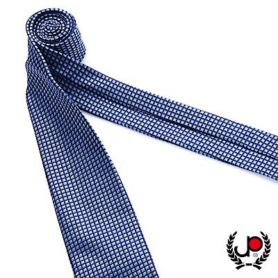 極品西服 100%絲質義大利手工領帶_藍底細格紋(YT5071)