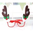 摩達客 聖誕派對造型眼鏡-咖啡鹿角