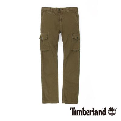 Timberland-男款焦糖色多口袋工作休閒長褲